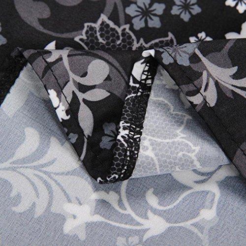 Les Femmes Birdfly Style Hepburn Ventilation Symboles Musicaux Modernes Imprimés Et Floral Robe Sans Manches D'impression Taille Plus H 2l