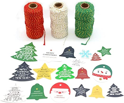 JUNICON 3 Rollos de Cuerda Decorativa para Hornear, de algodón con ...