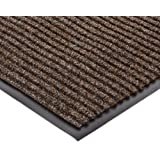 """NoTrax 117 Heritage Rib Entrance Mat, for Lobbies and Indoor Entranceways, 3' Width x 10' Length x 3/8"""" Thickness, Brown"""