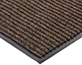 NoTrax 117 Heritage Rib Entrance Mat, for Lobbies and Indoor Entranceways, 3' Width x 10' Length x 3/8'' Thickness, Brown