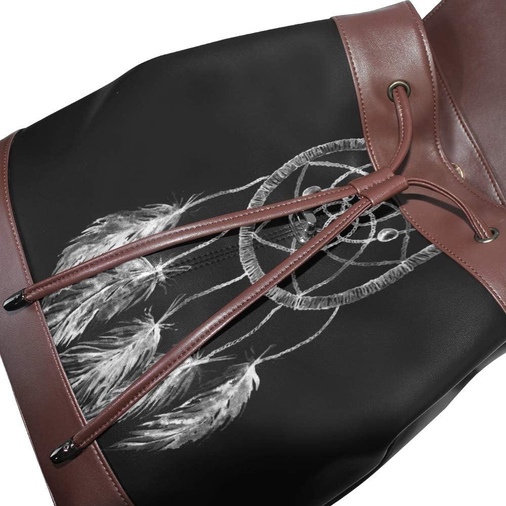 KEAKIA Women PU Leather Halloween Night Backpack Purse Travel School Shoulder Bag Casual Daypack