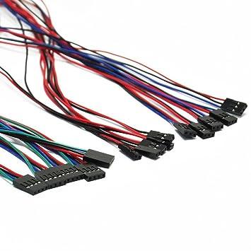 Cables DE 10 Piezas y 70 cm Cable de Puente Hembra-Hembra para ...