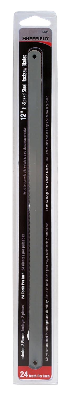Sheffield 58291 Two Piece Hi-Speed Steel Hacksaw Blades, 12 Inch, 24 Teeth Per Inch - Handsaw Blades - Amazon.com