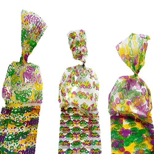 Mardi Gras Cellophane Bags -