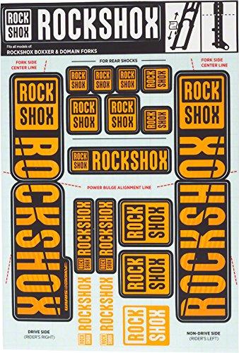 - RockShox Decal Kit 35mm Dual Crown Orange