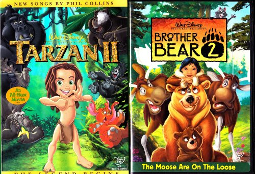 Tarzan II , Brother Bear 2 : Walt Disney 2 Pack Collection (Brother Bear 2 Dvd)