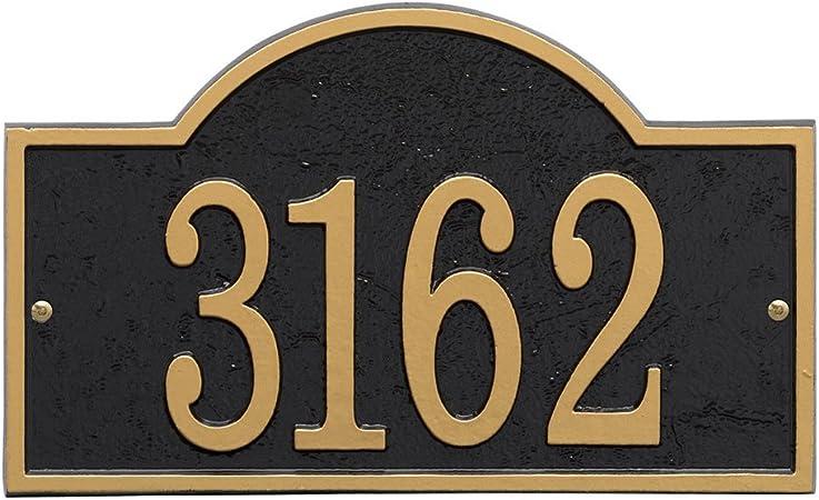 House Sign Door Number Name Plaque Street Address Plaque Cast Iron Metal