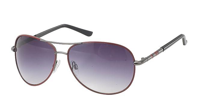Gafas de sol unisex Gafas de piloto porno rayas de colores ...