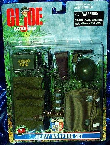 GI JOE BATTLE Gear HEAVY WEAPONS PLAY SET ACCESSORY PACK (Gi Joe Weapons)