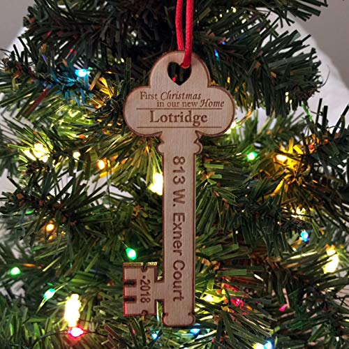First Christmas in Our New Home Key w/address 2018 - Christmas Ornament -