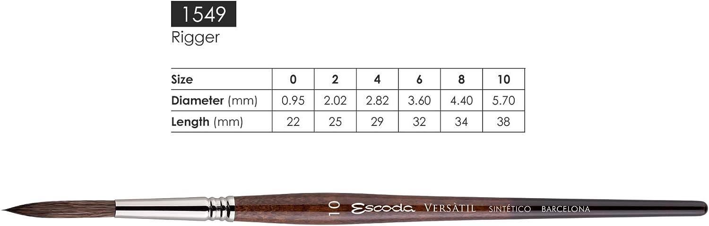 Escoda Brush 1549 Versatil Rigger 0 Round