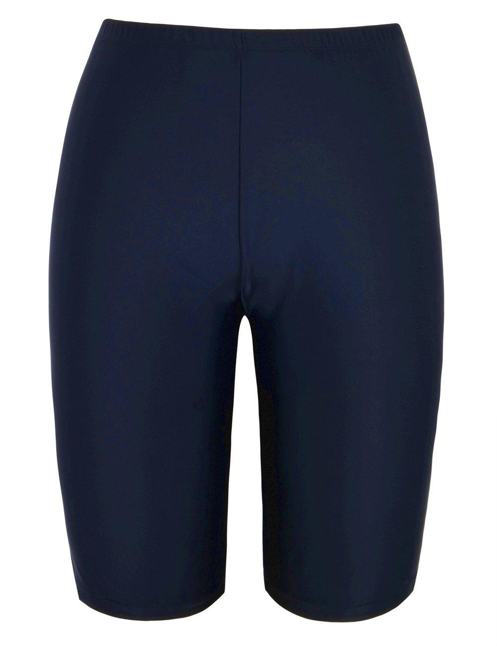 coastal rose Women's Swimsuit Bottom Swim Shorts UV UPF 50+ Bikini Bottom US18 Navy