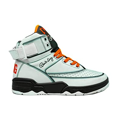 online retailer 8e193 c89f7 Amazon.com   PATRICK EWING Athletics 33 HI White Orange Olive 1BM00151-129.    Shoes