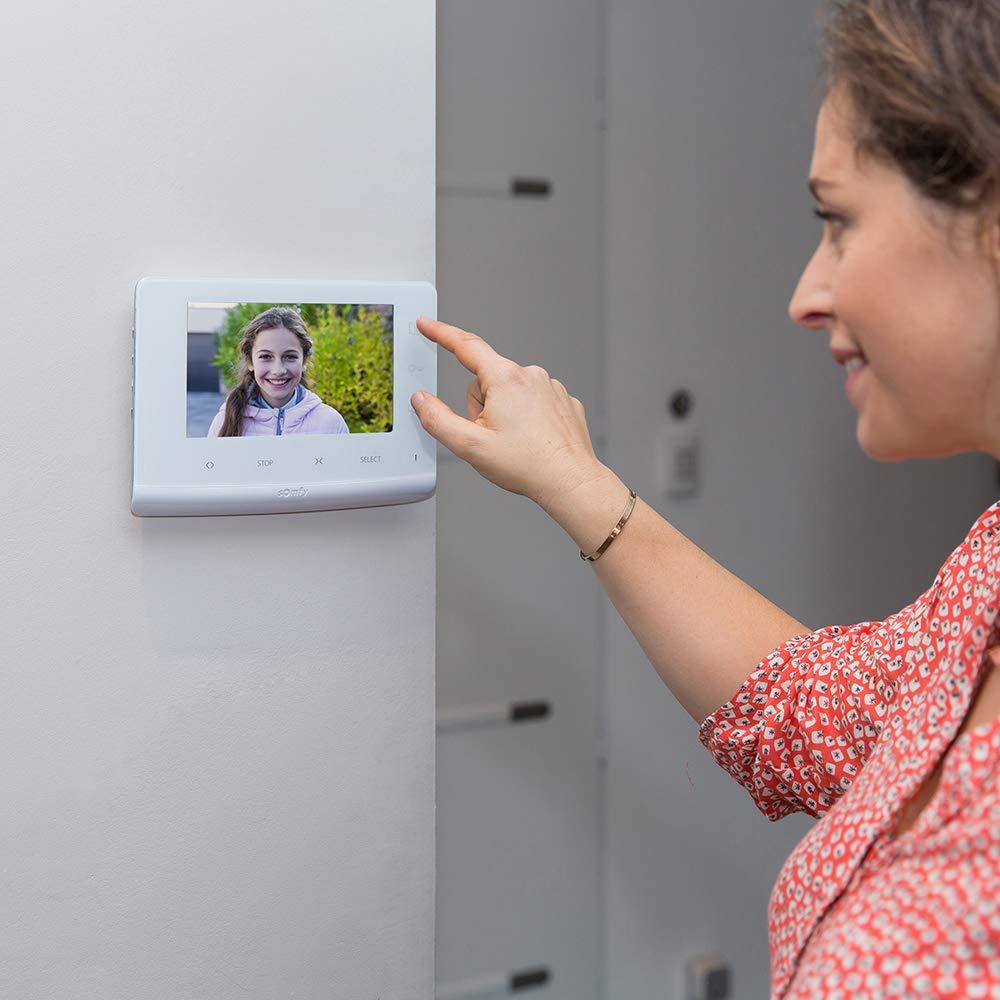 Vision Nocturne Somfy 2401547 Evolutif pour 2 logements Interphone Vid/éo /écran 7 Pouces Pilote jusqu/à 5 automatismes RTS Visiophone V300