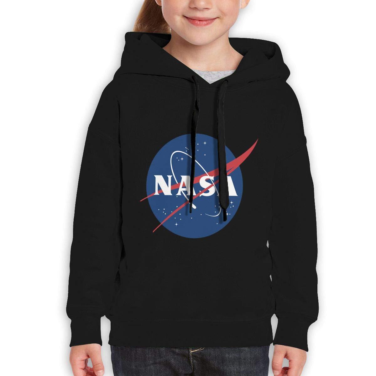 MUPTQWIU Teen Girls NASA Logo Leisure Climbing Black Hoody