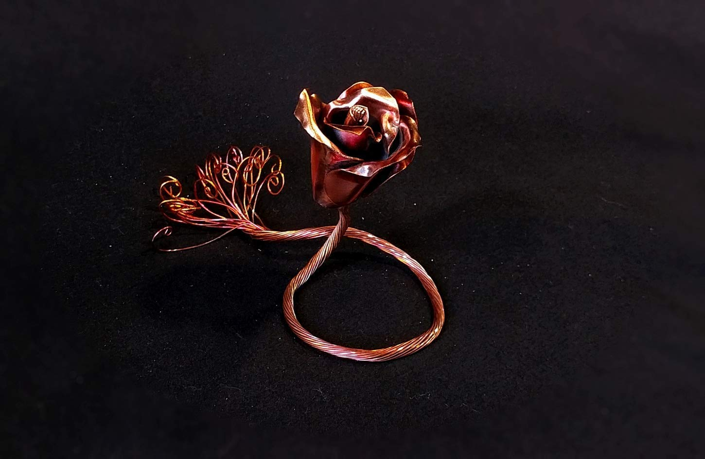 Copper Rose'' I Love You'' #1557 Steampunk Industrial birthday 7th Anniversary Unique Mother's Day Valentine's Day Christmas present