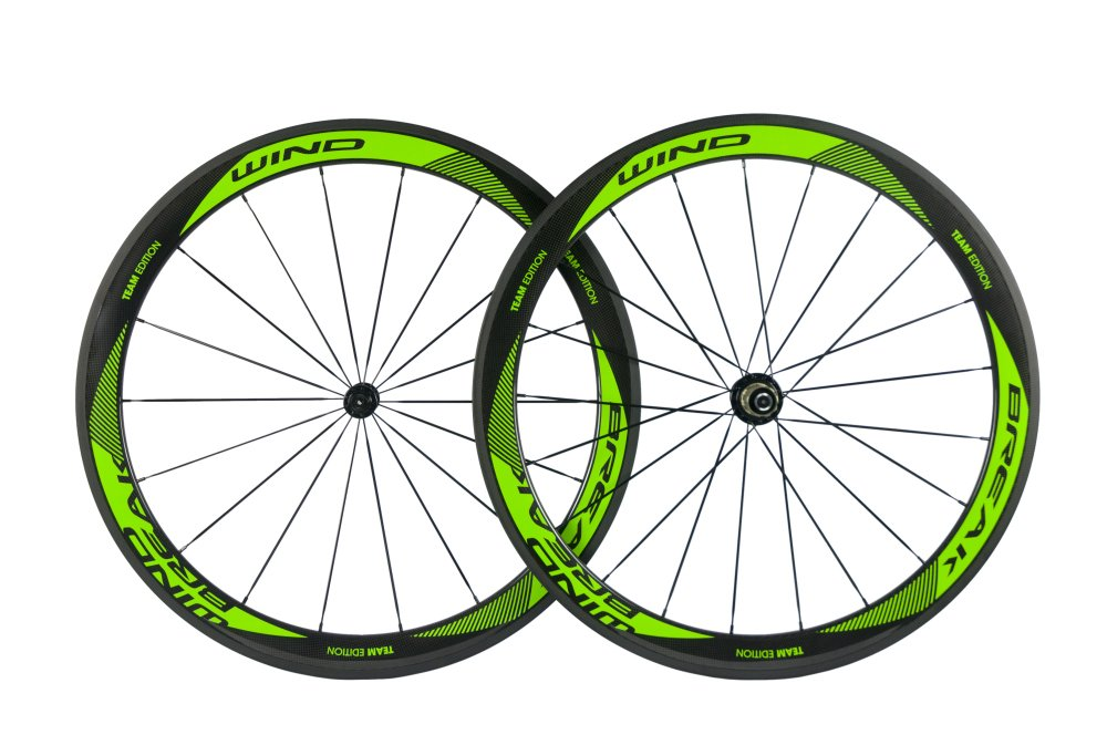 Sunrise Bike Carbon Fiber Road Wheelset Clincher Wheels 50mm Depth R13 Hub Decal Bicycle Rims by SunRise (Image #2)