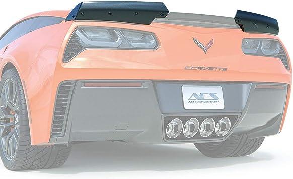 Amazon Com Acs Composite C7 Corvette Wicker Spoiler Grand Sport Z06 Stage 2 2 5 3 Aero Wing Optional Polycarbonate Window Carbon Flash Black Stage 2 5 Wickers Automotive