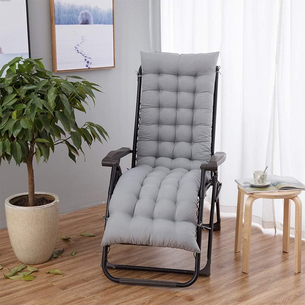 ?USA Stock? Patio Chaise Lounger Cushion, Thickened Sundlight Lounger Chair Cushions Rocking Chair Sofa Outdoor Mattress Garden Recliner Padded Seat Tatami Mat Window Mat (Gray)