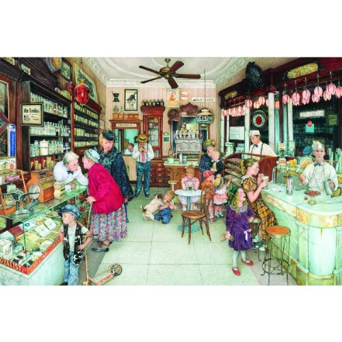 SunsOut Soda Fountain - Old Fashioned Candy Store - 1000 pc Jigsaw Puzzle