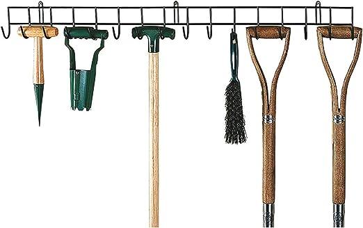MySmartBuy - Soporte de pared para colgar herramientas de jardín, longitud 1 m: Amazon.es: Hogar