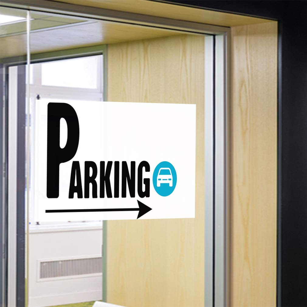 Decal Sticker Multiple Sizes Parking #2 Style B Business Parking Outdoor Store Sign White Set of 2 52inx34in