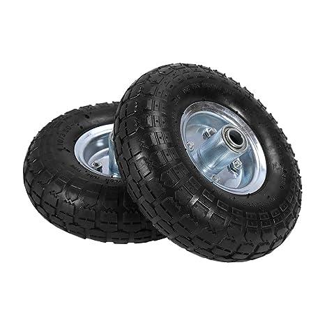 Carretilla de neumáticos de goma 2 pieza de ruedas de goma para carretilla de mano Carretilla