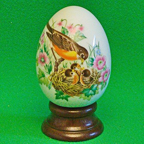 AVON 1984 Four Seasons Porcelain Egg Series - Spring - A New Beginning - Includes Box, Stand and Original Foam (Avon Porcelain Egg)