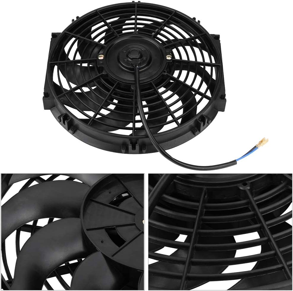 12 inch High Performance 12V Electric Slim Radiator Cooling Fan Universal Car Push Pull Engine Fan with Mounting Kit Engine Cooling Fan