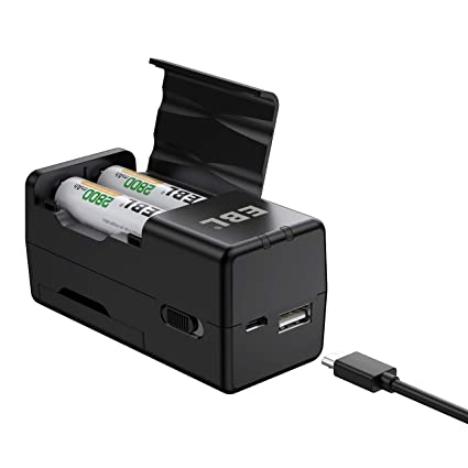 5e935eca9cf16e EBL Portable Smart Battery Charger for Rechargeable AA AAA Batteries - USB  Input Design for Travel (Batteries Not Included) - - Amazon.com