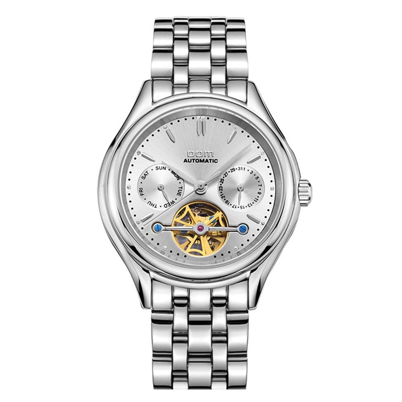 Sheli Herren-Armbanduhr Self Winding Tourbillon Uhrwerk Edelstahl Große weiße Zifferblatt - 41mm