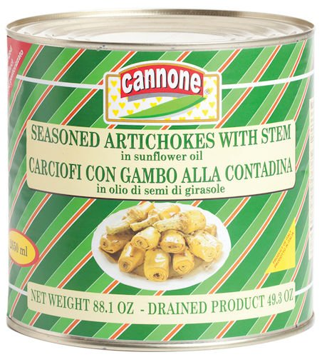 Cannone Artichokes Marinated Long Stem - 5.5 Pound