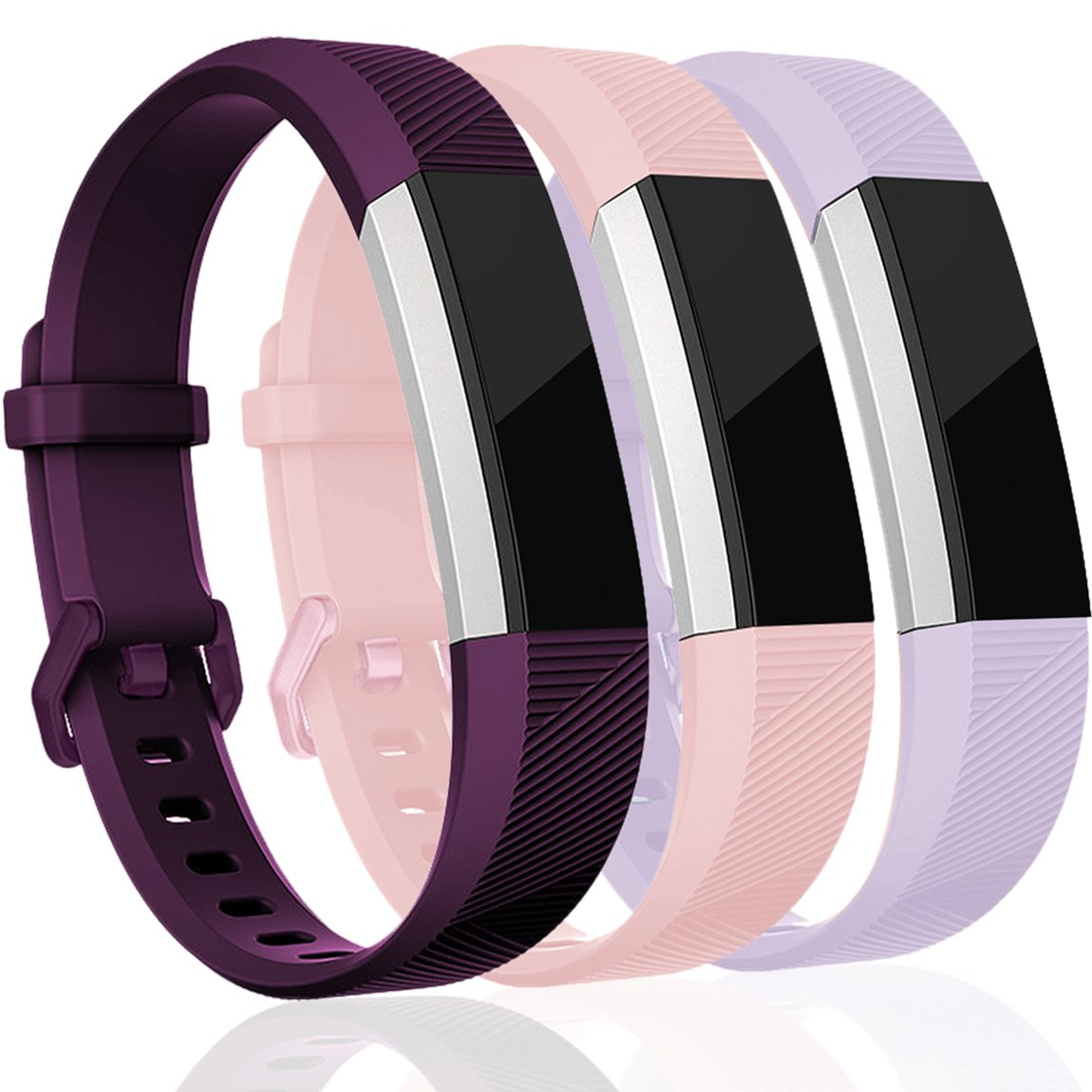 For Fitbit ALTAアルタHR、帯、maledan交換用アクセサリーWristbands for Fitbit ALTAアルタ、HR、Large Small 2スタイル B078J17526 Small|3 In 1-H 3 In 1-H Small