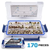 Metric Rivet Nuts 170 pcs, Zinc Plated Carbon Steel Rivnuts,Treaded Insert Nutsert M3 M4 M5 M6 M8 M10 M12