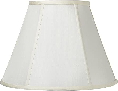 Cal Lighting SH-8106 20-WH Vertical Piped Basic Empire Shade with 20-Inch Bottom, White