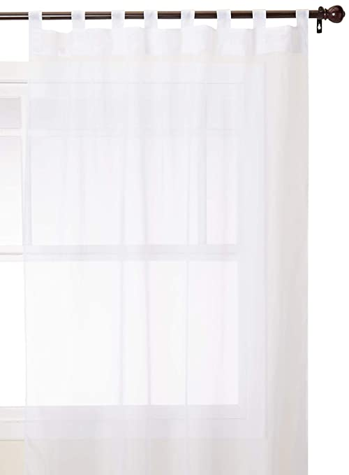 Outdoor Decor Escape Voile 54 By 84 Inch Velcro Tab Panel White
