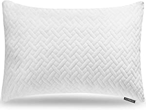 Bed Neck Pillows for Sleeping - Bedding Shredded Memory Foam Firm Pillow - Support Side Sleeper Pillow - Adjustable Loft Washable Removable Cooling Bamboo derived Rayon Pillowcase