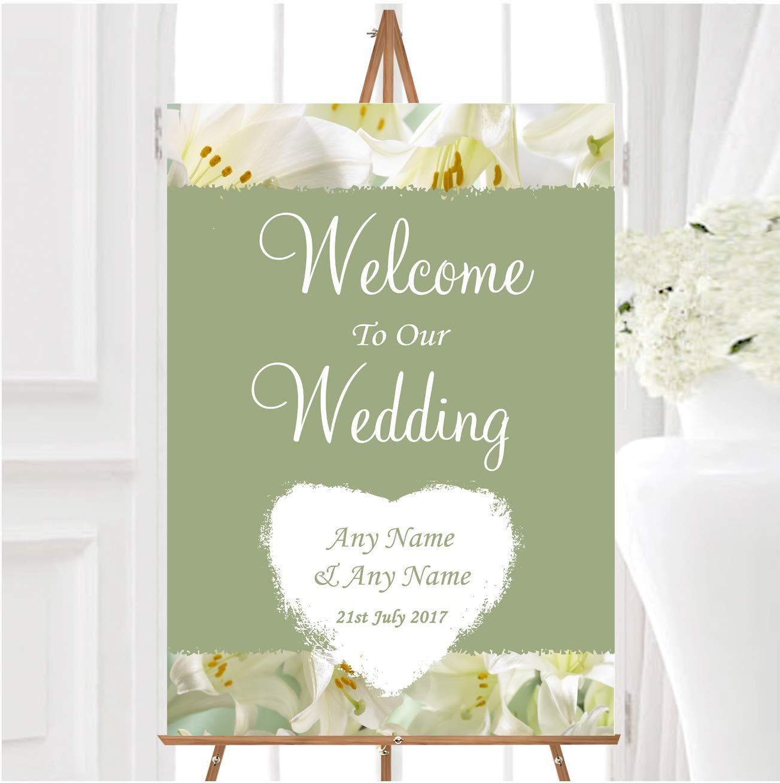 White and Green Calla Lily - Cartel de bienvenida a nuestra ...