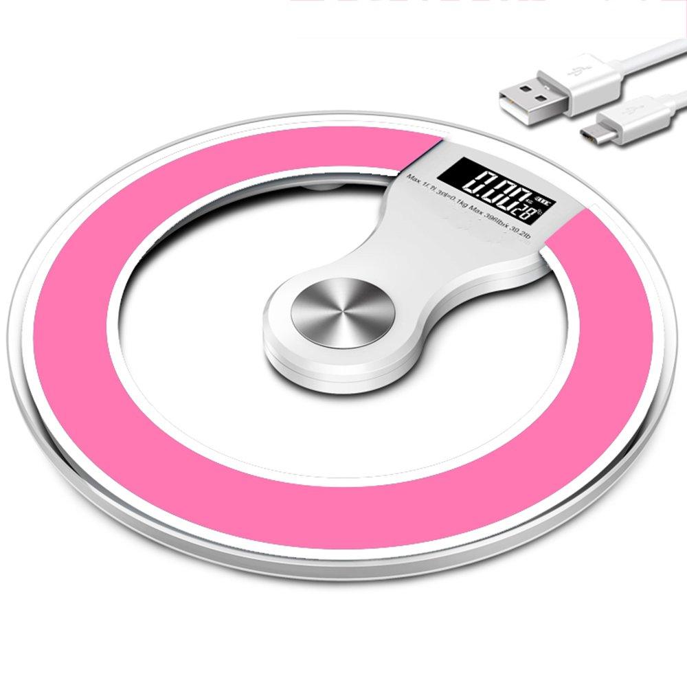 LVZAIXI 体重計電子スケール体重計体重計体重計世帯ナイトビジョン体重計USBパワード負荷ベアリング180KG ( 色 : ピンク ぴんく ) B07C78X3YQ ピンク ぴんく