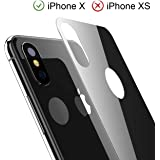 iPhone X / XS Back Screen Protector, Kolpop 3D Full Coverage iPhone X / XS Tempered Glass Back Protector, Anti-Fingerprint Case Friendly Anti-Scrath Back Glass Protector Film For iPhone X / XS(Black)