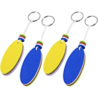 Cabilock 4pcs Foam Floating Key Chain Boat Keychain Key Float Waterproof Key Chain for Boating Fishing Kite Surfing…