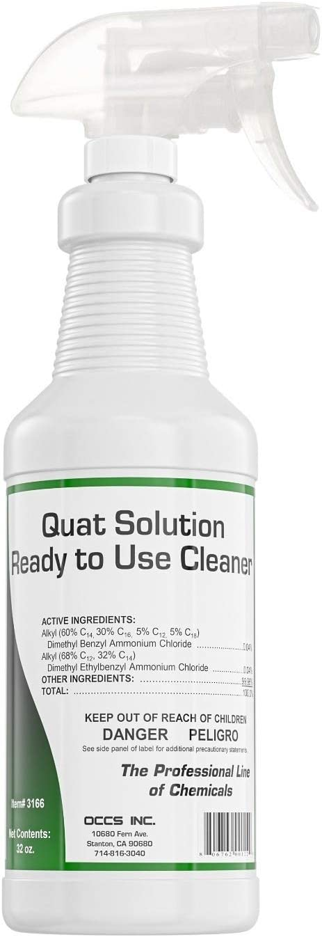 OCCS Quat 32 oz All-Purpose Disinfection Cleaner   Cleaning Solution   Odor Eliminator   Stain Remover   Spray Bottle