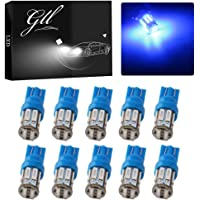 Grandview 350 Lumens Blue T10 194 168 921 W5W 7014 10-SMD LED Interior Lights Bulb Car Replacement Lights Truck License…