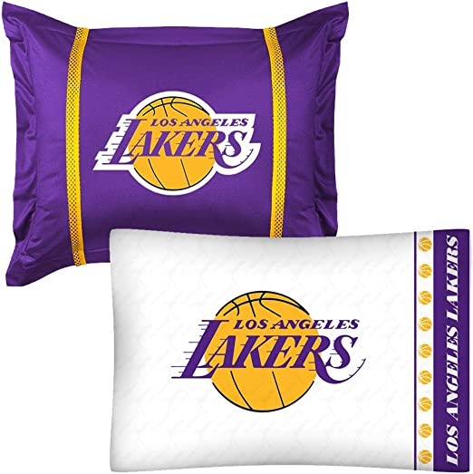 NBA 2pc Angeles Lakers Funda de Almohada y Funda de Almohada Sham ...