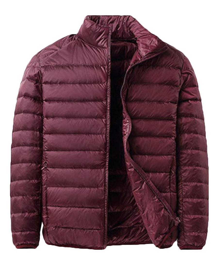 Unko Mens Packable Ultra Zip up Lightweight Puffer Down Coat Jacket Top