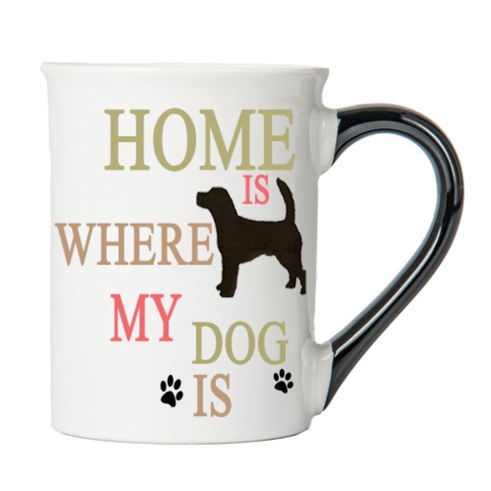 Tumbleweed - Home Is Where My Dog Is - Dog Mug - Ceramic 18 Ounce Large Coffee Mug - Dog Lovers