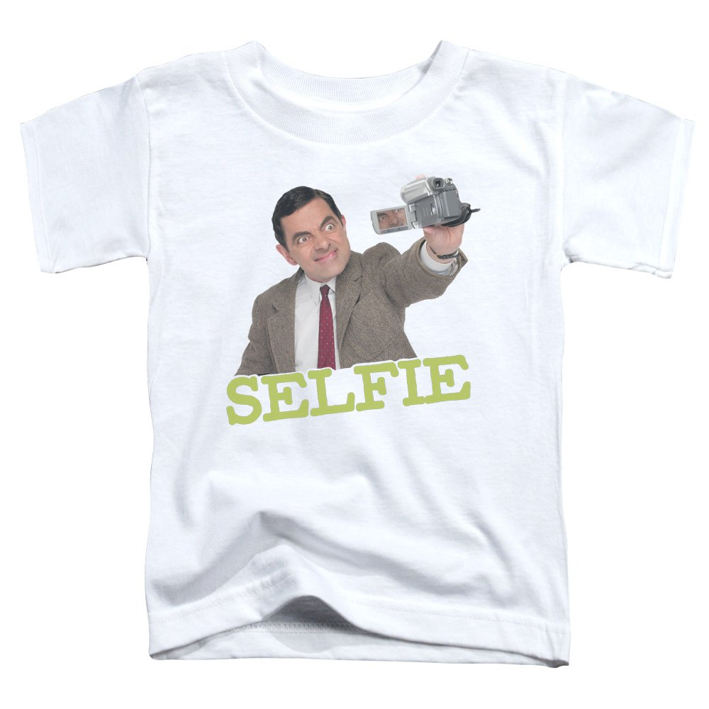 22b7d0604 Mr Bean - Toddlers Selfie T-Shirt, 4T, White: Amazon.co.uk: Clothing