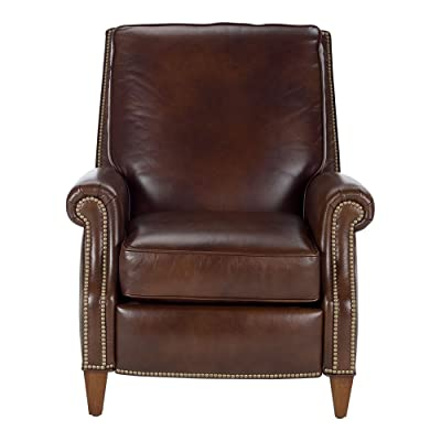 Ethan Allen Colburn Leather Recliner, Omni/Brown