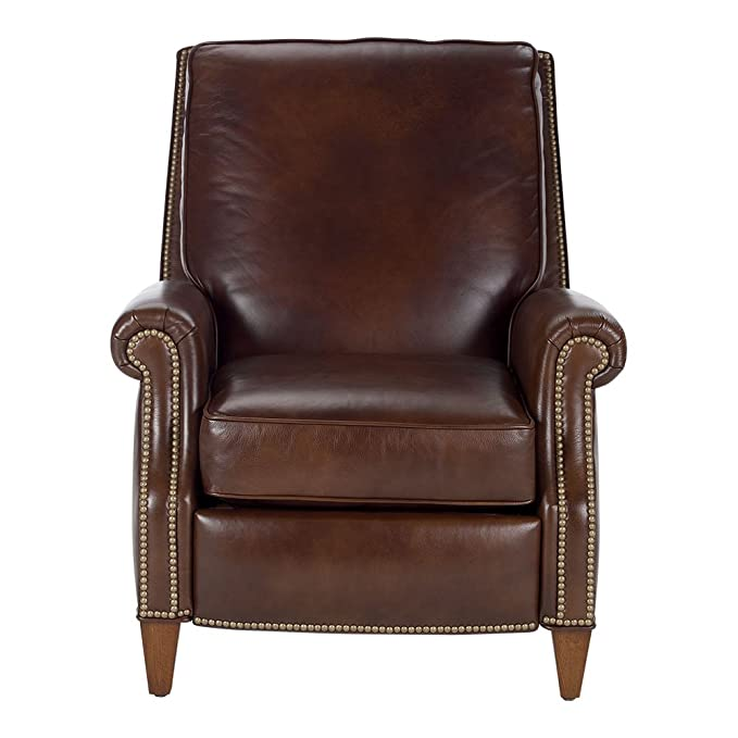 Amazon.com: Ethan Allen Colburn Leather Recliner, Omni/Brown ...