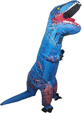 Wild Cheers Inflatable Dinosaur Costume Adult, 2.2m high, Strong Shape, Super Domineering, Inflatable T-Rex Costume Suitable for Halloween, Party, Gifts